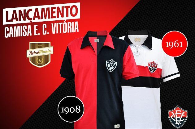 9f6deb6006da0 Esporte Clube Vitória lança duas camisas retrô