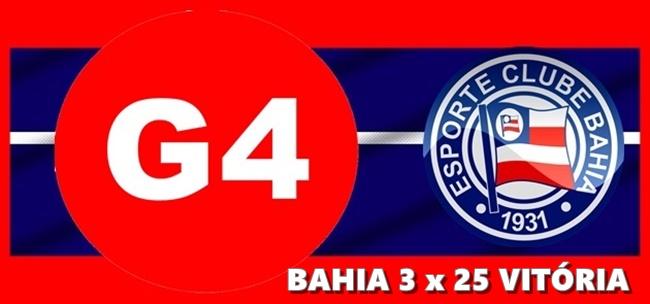 a924dca7d8d6b G4  Esporte Clube Vitória dá um banho no Bahia