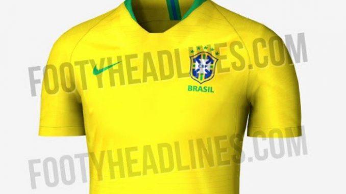 be9e3b624c Veja a possível camisa da Seleção Brasileira para Copa 2018