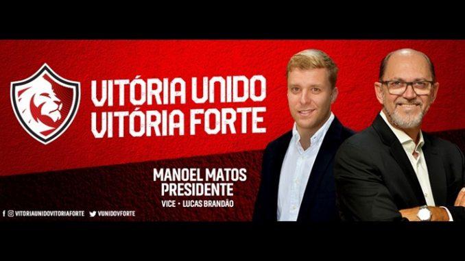 Eleição no Vitória  Conheça as propostas de Manoel Matos 06f15a2035014