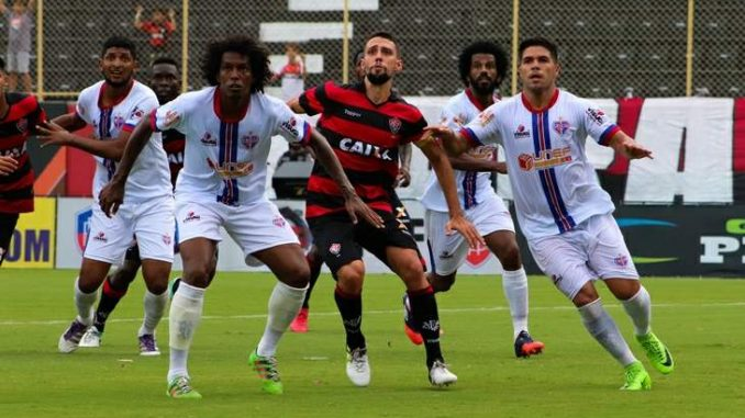 O Vitória se recuperou completamente no 2ª tempo e venceu hoje à tarde o  Bahia de Feira pelo placar de 3 x 0 cfc0c69147fad
