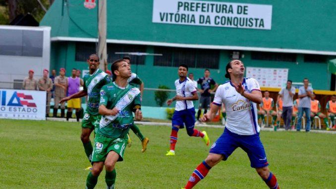 18a2a37f97573 Vitória da Conquista nunca venceu o Bahia em Salvador