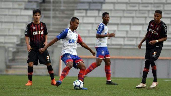 f38b7dbbc6 Bahia brilha e vence o Atlético-PR por 3 x 2 na Copa Brasil SUB-20
