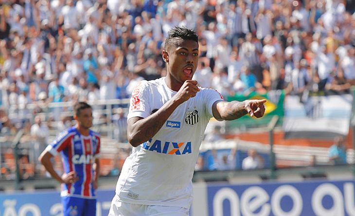 Bruno Henrique atacante do Santos