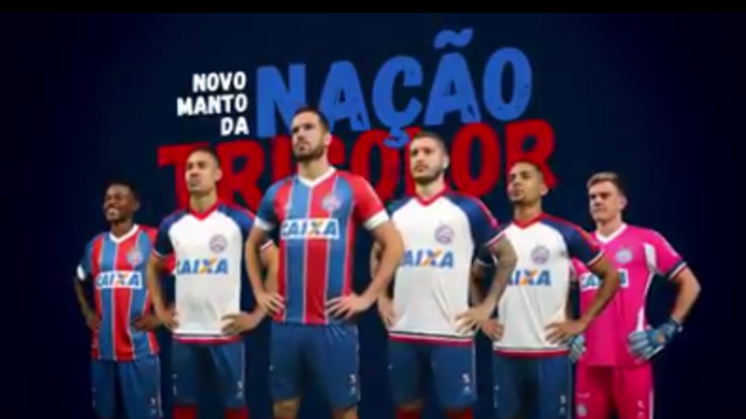 56740eb81ce78 Bahia divulga vídeo e apresenta os novos uniformes da marca  Esquadrão