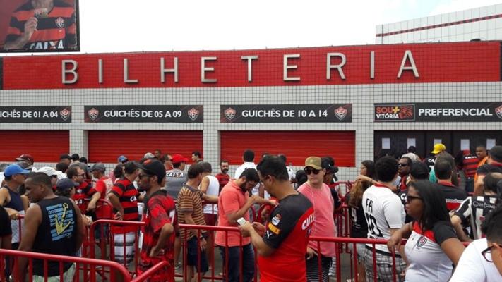 b63a45bdc1013 Vitória atualiza a parcial de ingressos vendidos para o BA-VI no Barradão