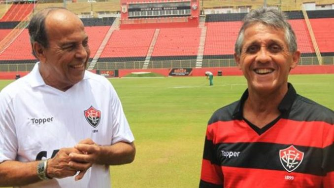 André Catimba e Onis - ex-jogadores do Vitória